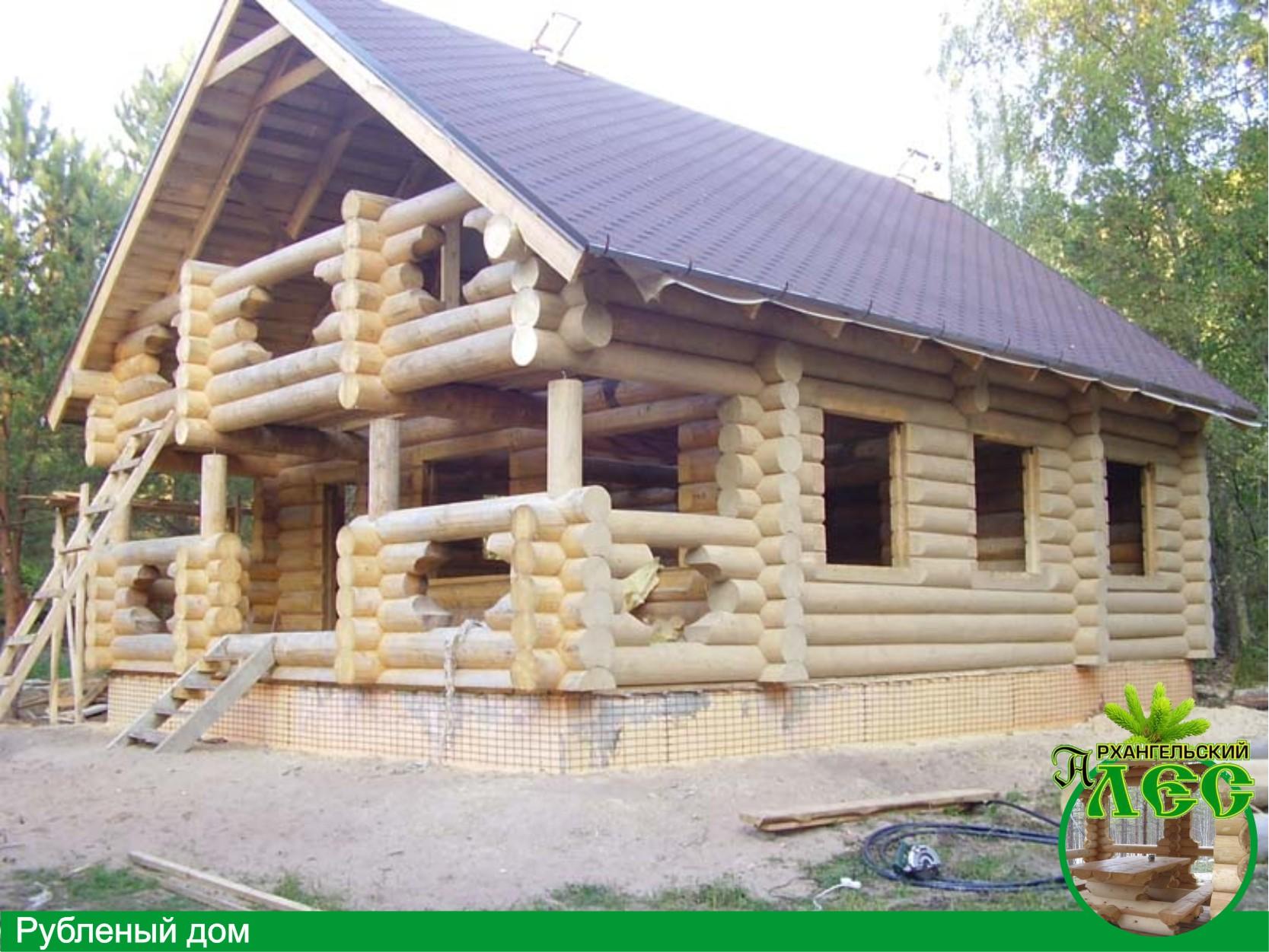 Изготавливаем и устанавливаем бревенчатые дома - Строительные услуги...
